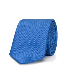 Neck Tie Blue Dobby Texture
