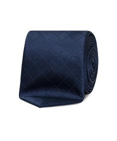 Neck Tie Navy Diamond Stitch