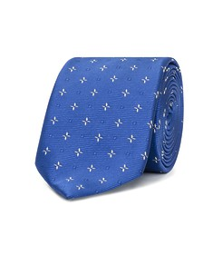 Neck Tie Blue Star Print