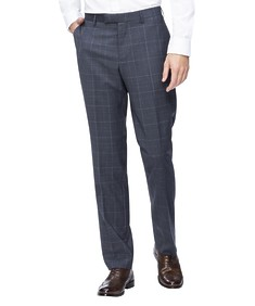 Slim Fit Suit Pant Charcoal Prince of Wales Check