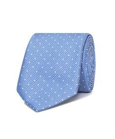 Neck Tie Blue Spot Textured