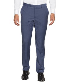 Slim Fit Suit Pant Sky Blue Vertical Stripe