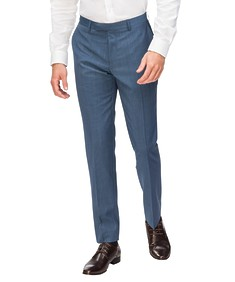 Slim Fit Suit Pant Sky Blue Mini Check