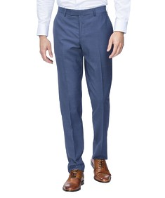 Slim Fit Suit Pant Light Navy Self Stripe