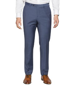 Slim Fit Suit Pant Navy Fine Stripe