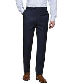 Slim Fit Suit Pants Navy Birdseye