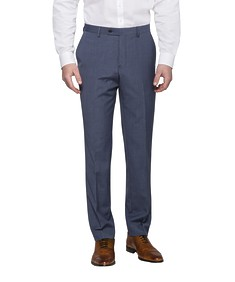 Slim Fit Suit Pants Navy Blue Small Check