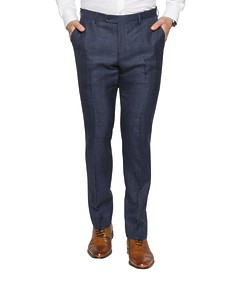 Black Label Slim Fit Suit Pant Ox Blood Check