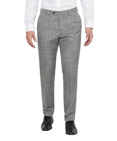 Black Label Slim Fit Suit Pants Grey Linen