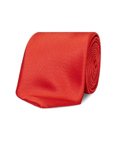Neck Tie Red Dobby Texture