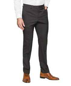 Slim Fit Suit Pant Charcoal Pin Stripe