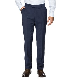Slim Fit Suit Pant Ink Vertical Stripe