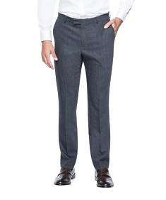 Slim Fit Suit Pant Charcoal Textured