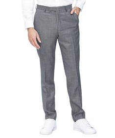 Slim Fit Suit Pant Grey Birdseye