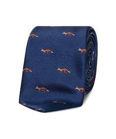 Neck Tie Navy Foxes
