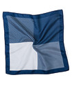 Pocket Square Navy Four Way Squares