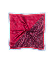 Pocket Square Red Paisley and Dots