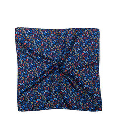 Pocket Square Navy Paisley