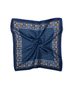 Pocket Square Navy Persian Print