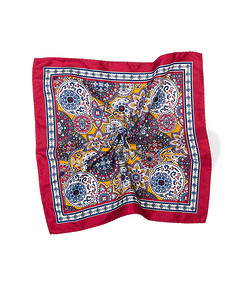 Pocket Square Red Persian Print