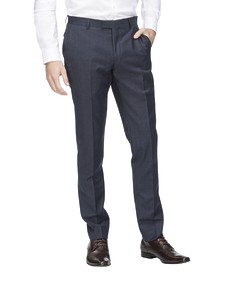 Super Slim Fit Suit Pant Navy Ox Check
