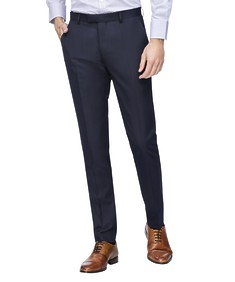 Super Slim Fit Suit Pant Navy Textured