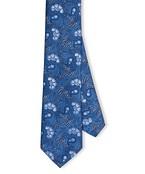 Neck Tie Blue Floral Paisley