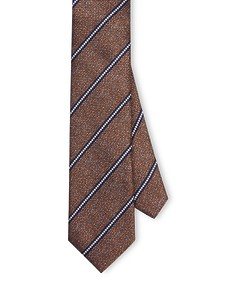 Neck Tie Brown Diagonal Stripe