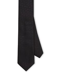 Neck Tie Black Geometric Spot