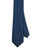Neck Tie Navy Circle Print