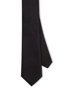 Neck Tie Black Geometric Pebble