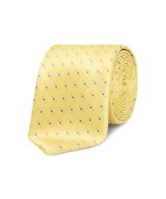 Neck Tie Yellow Gold Spot Pattern