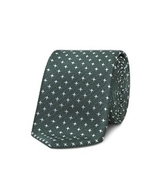Neck Tie Bottle Green Star Print