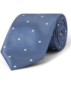 Tie Navy with White Spot