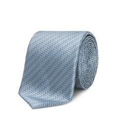 Neck Tie Ocean Blue Wavy Design