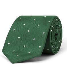 Tie Emerald Green with Diamonds