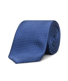 Neck Tie Navy Dobby Design