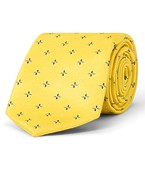 Tie Yellow Gold Patterned