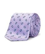 Neck Tie Mauve Pink Paisley