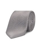 Neck Tie Brown and White Checkerboard