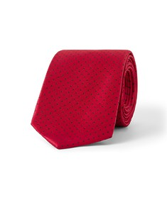Tie Red with Navy Dots