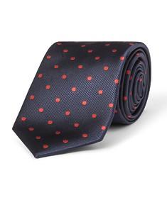 Tie Navy Red Spots