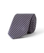 Tie Navy with Purple and White Diamond Check