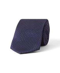 Tie Navy with Purple Cross Stitch