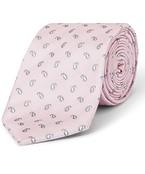 Tie Pink White Paisley