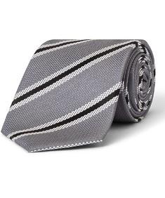 Tie Charcoal Bold Stripe