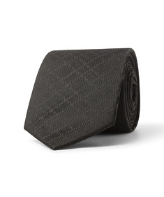 Tie Black Self Diamond Check