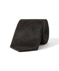 Tie Black Geo Design