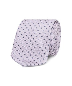 Neck Tie Pink with Navy Stars