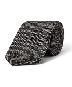 Tie Grey Charcoal Textured